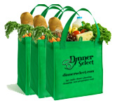 Three Reusable Grocery Bags